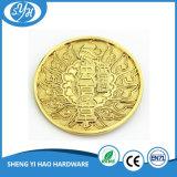 Druckgegossene Gold überzogene kundenspezifische Firmenzeichen-Metallmünze
