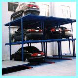 Sistema llano multi del estacionamiento del sótano del apilador del coche de 4 postes