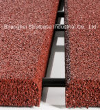 SBR-Aufbereiteter Gummiblockierenmattenstoff - anschließbar