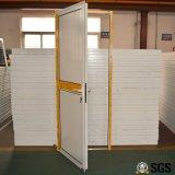 Weißes Farben-Puder-überzogene Aluminiumflügelfenster-Tür mit Aluminiumpanel, Tür K06017