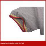 Camisa de polo magro do ajuste dos homens personalizados da alta qualidade (P179)