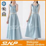 Sleeveless Form-Stickerei-Kleid-Kleidung für Damen
