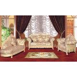 Sofá da tela com frame de madeira do sofá (153B)
