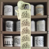La aduana de Toiletbook imprimió la toalla de cocina de la novedad del rodillo del tejido del papel higiénico