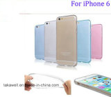Оптовый сотовый телефон Case iPhone 6/6s/6plus Silicone аргументы за Mobile Accessroies 0.3mm Transparent TPU