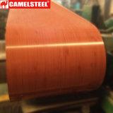 El color cubrió la bobina de acero decorativa galvanizada prepintada