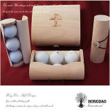 Hongdaoのカスタムロゴの_Eが付いている木のスポーツの球ボックス