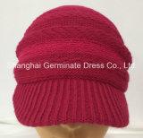 Chapéu de malha quente com chapéu de tricô invisível para visor (Hjb037)