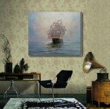 航行のハンドメイドの油絵