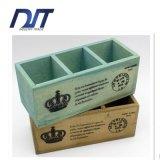 Contenitore di legno quadrato disponibile di fiore di formato differente su ordinazione di marchio