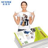 Papier d'imprimerie léger foncé de transfert de presse de la chaleur de laser de jet d'encre de T-shirt