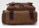 キャンプ袋をハイキングするメンズキャンバスの革メッセンジャーのTravalの肩旅行