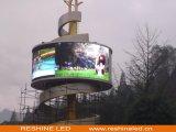 Reshine P10 DEL incurvée fixe extérieure, Afficheur LED pour la publicité extérieure