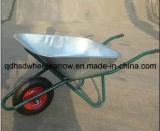 Wheelbarrow do aço inoxidável da capacidade da bandeja 85L de Galnized para o mercado do russo