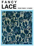Tissu en nylon de lacet de jacquard (QH003)