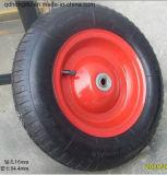 Rodas vermelhas internas de borracha pretas do pneu pneumático