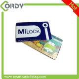 CR80 smart card printable impresso CMYK do PVC 13.56MHz FM11RF08 RFID