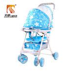 Passeggiatore rosso del bambino della sede di plastica leggera con 6 rotelle di EVA