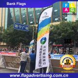 Портативный полиэфир полного цвета рекламируя флаг пляжа для сбывания