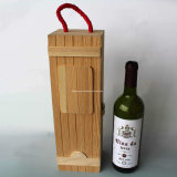 Rectángulo de madera natural durable del vino del rectángulo de regalo con talla modificada para requisitos particulares