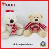 De witte Teddybeer van Kerstmis van de Teddybeer van de Sneeuwman met Scarve