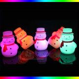 Lámpara de la iluminación de la lámpara del regalo de la Navidad del hombre de la nieve del resplandor pequeña