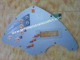 Interruptor de membrana con la bóveda del metal