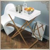 Kaffeetisch-Ecken-Tisch-Edelstahl-Möbel-Ausgangsmöbel-Hotel-Möbel-moderner Möbel-Tisch-Tisch- für Systemkonsoleseiten-Tisch des Tee-Tisch-(RS161301)