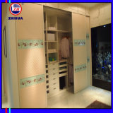Wardrobe branco do estar aberto do PVC (FY002)