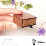 Caixa de empacotamento do anel de madeira feito sob encomenda de Hongdao para Gift_D