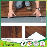 Carrelages gris de PVC en bois 5.0 millimètres d'épaisseur avec la fibre de verre