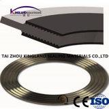 (KLG453) Gezackte Metalldichtung mit äußerem Ring