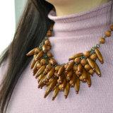 جديدة نمو مجوهرات خشب ينظم خانقة مدلّاة عقد