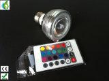 Neues farbenreiches 3W LED Kristallstadiums-Licht-drehende Stadiums-Effekt DJ-Selbstlampen der RGB-Birnen-