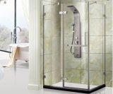 Pièce jointe debout libre de douche en verre Tempered de Frameless de porte de pivot