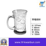 Articoli per la tavola di vetro liberi Kb-Hn096 della tazza di vetro bevente della tazza di birra della tazza