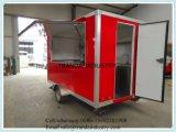 De hoogste Kwaliteit paste de OpenluchtBBQ Aanhangwagen van het Snelle Voedsel met Ce ISO UL aan