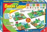 Игрушка следа поезда игры блоков установленная
