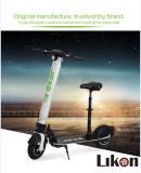 Likon Jiexgのブランド10inches 2の車輪の大人は折る電気スクーター、500Wモーター、48V Eスクーター絶食する