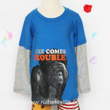 Cotone 100% Long Sleeve Print T-Shirt per Kids e Babies