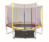 Круглый половинный Trampoline Поляк с внутренней безопасностью Enclosure09