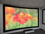 Écran incurvé par écran incurvé tissé acoustique transparent de projecteur