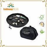 Les sacs cosmétiques pliables de maquillage de mode promotionnelle faite sur commande de voyage, maquillage balaye le sac