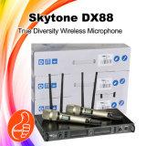 Profesional sin hilos del micrófono de la frecuencia ultraelevada Dx88