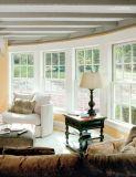Entfernbare Fliege rastert plattiertes Aluminiumholz gehangenes Fenster, Qualitäts-doppeltes gehangenes Aluminiumfenster für Wohn
