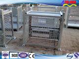 Empilhável Galvanizado Foldable Storage Wire Metal Cage (FLM-K-014)