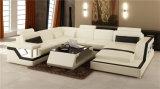 O sofá comercial moderno Best-Selling do couro da mobília ajustou-se (HC1074)