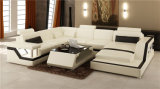 Hauptmöbel-neues Entwurfs-Wohnzimmer-Leder-Sofa eingestellt (HC1074)