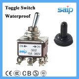 Dpdt 4p 20A encendido-apagado del interruptor eléctrico con tapa a prueba de agua