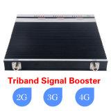 3G 4G Lte 중계기 셀룰라 전화 신호 증폭기 세 배 악대 셀룰라 전화 신호 승압기 900/1800/2100MHz GSM 승압기 중계기 2g 3G